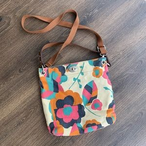 Hunter Hobo Floral Fossil Purse